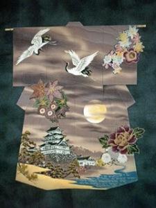 Kimono quilt wall hanging